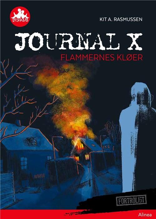 """Journal X: Flammernes kløer  Anders og hans ven Kalle beslutter sig for at opklare en stor sag om syv brande på Egevej. Politiets efterforskning tyder på, at der er en pyroman på spil. Drengenes spor ender blindt med de manglende beviser. Men kriminalassistent Henrik, der selv bor på Egevej og arbejdede på sagen, hjælper Anders og Kalle videre i deres opklaring.  """"Pyromanen brugte et system. Et imponerende lille setup. Uden at blive for teknisk kan jeg forklare det sådan her: Han tændte et stearinlys, og rundt om det lagde han klude, der var fugtet med brandbar væske. Når lyset brændte ned, fik flammen fat i kludene… Og så kan I nok regne ud, hvad der skete.""""  Bog skrevet af Kit A. Rasmussen"""