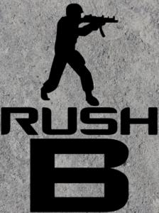 Rush B  Gordon er vild med at spille computer - især Counter-Strike. Men livet som gamer er ikke bare fest og frags. Gordon står i løbet af serien overfor svære beslutninger og hårde konfrontationer, når han bliver udsat for snyd, hacking og online mobning.  Rush B er letlæste børnebøger om gaming. Bøgerne kan læses uafhængigt af hinanden.  Fun fact: 'Rush B' er et begreb, der anvendes i CS:GO og beskriver, når et hold laver et hurtigt angreb på B-bombestedet.  Bog skrevet af Kit A. Rasmussen